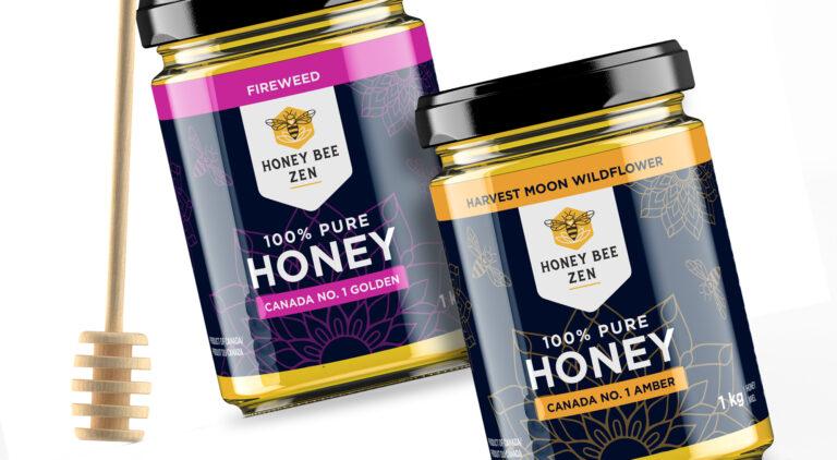 Honey Bee Zen labels
